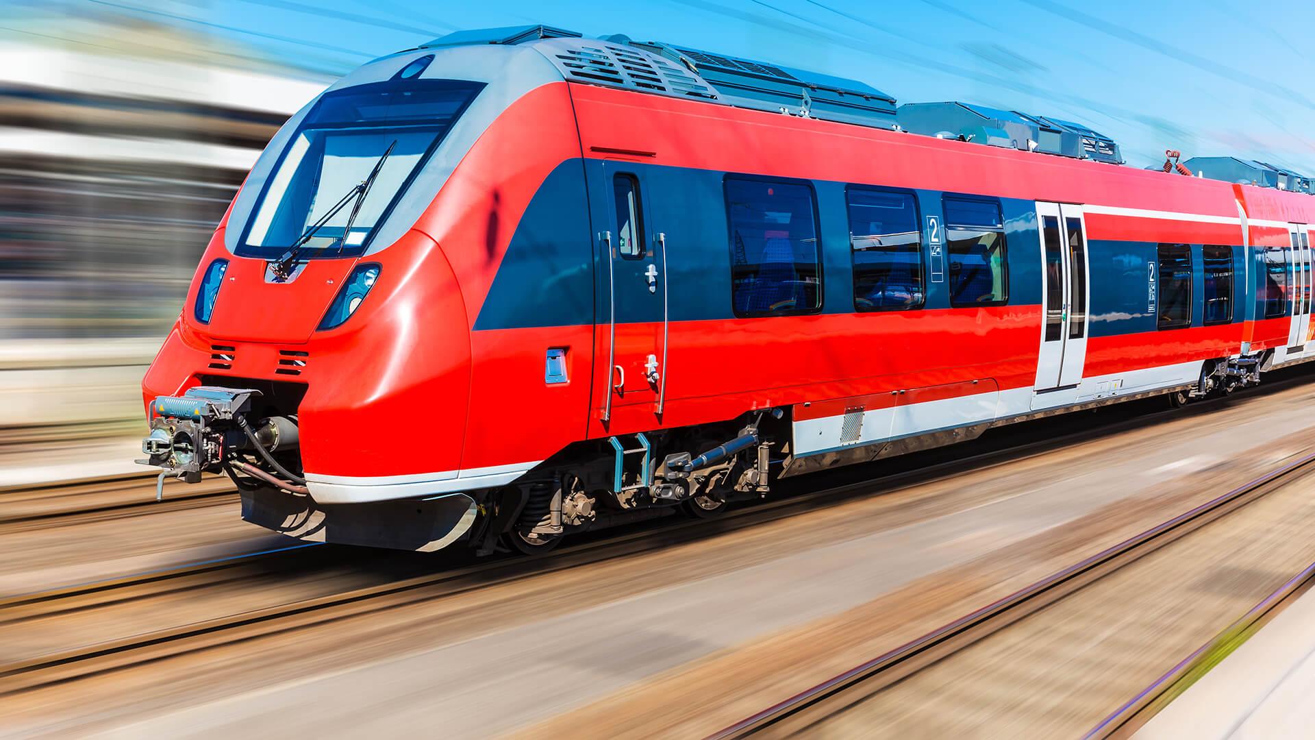 Fast train made with aluminium honeycomb