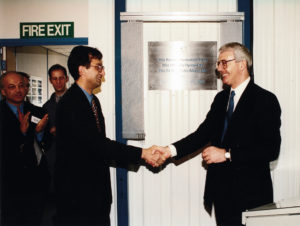 Opening of Robotics Production Plant with John Major