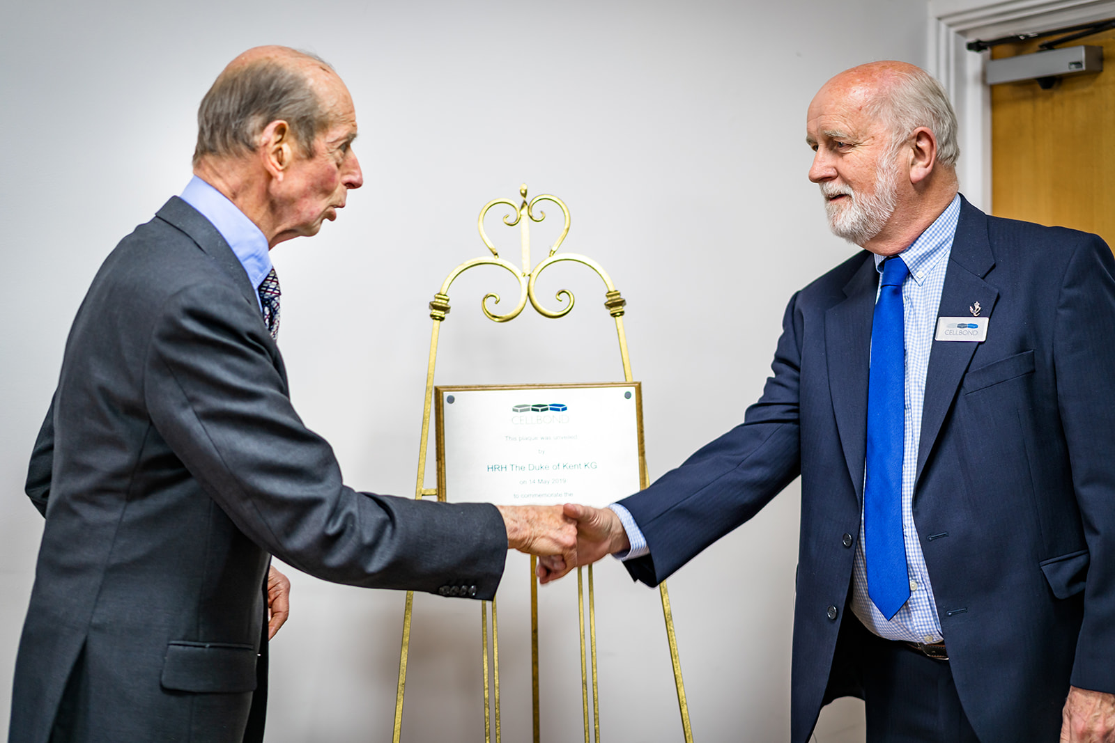 Cellbond Paul Cope with HRH The Duke of kent - plaque unveiling