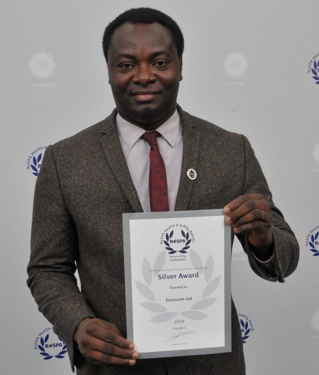 Encocam receive a Silver RoSPA Award