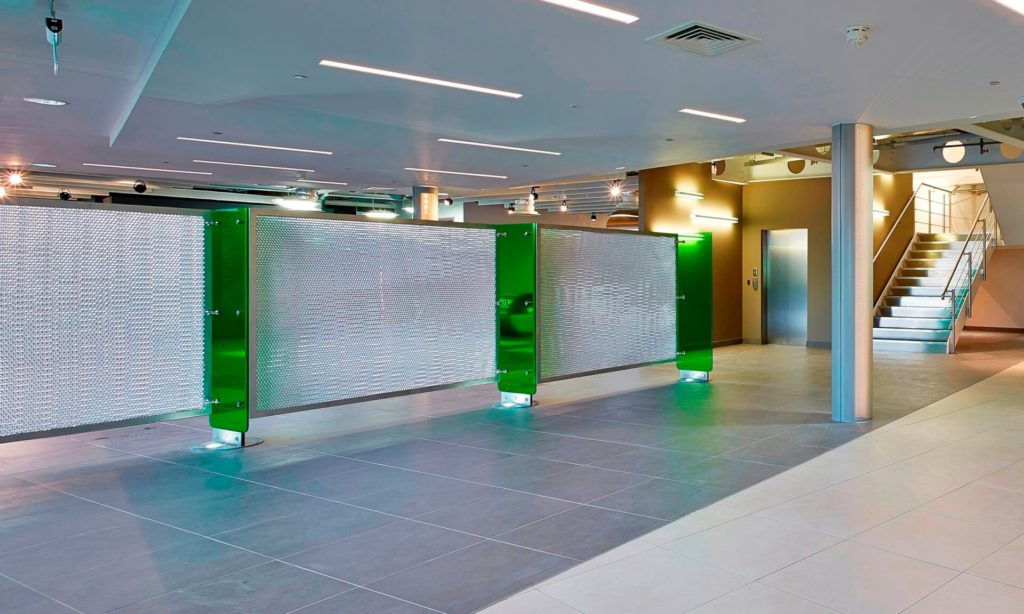 Uses of Mykon's toughened glass panels in architecture